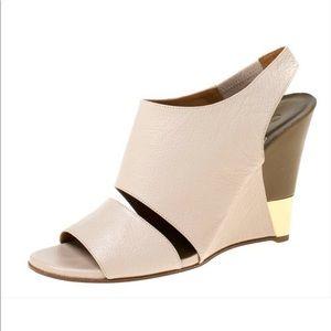 Chloe Estel peep toe slingback leather SZ 38 or 8